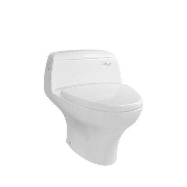 4.5 / 3 L Dual Flush  Solid Duroplast Seat & Cover  Bowl Shape: Elongated